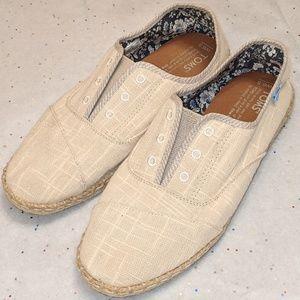 New Toms Espadrilles, Size 6.5